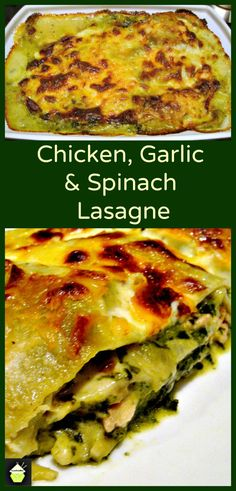 Chicken, Garlic & Spinach Lasagna - An easy recipe full of flavour and freezer friendly too!