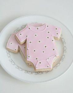 baby cut out cookies | Baby Onesie Cookies