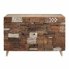 #awesome  -->  Buffets und Thekenmöbel -  Geschnitztes 2-türiges Buffet mit 3 Schubladen, aus Recyclingholz -->  Maisons du Monde - €  599.00 // check out more --> www.maisonsdumonde.com