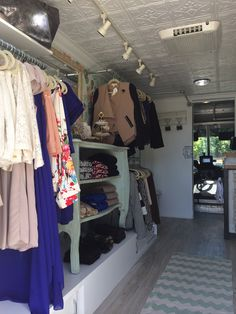 My Rolling Closet boutique layout - The newest mobile boutique in Dallas, TX  www.myrollingcloset.com