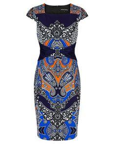 PAISLEY JERSEY DIGITAL PRINT MIRROR PLACEMENT DRESS Paisley Print Dress, Work Dresses, Peplum Dress, Digital Prints, Fashion Ideas, Career, Spring Summer, Australia, Mirror