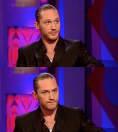 Tom Hardy...I kinda like the slicked back hair.❤