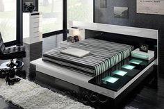 contemporary beds | Tokyo 710 Modern Walk-on Platform Bed by Milmueble