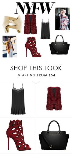 """""""Street Style"""" by lorenzia14 on Polyvore featuring Carven, Giuseppe Zanotti, MICHAEL Michael Kors, women's clothing, women, female, woman, misses, juniors and NYFW"""