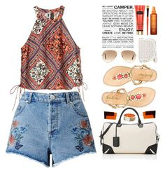 """Travel And Explore"" by belli-ssimo ❤ liked on Polyvore featuring Miss Selfridge, rag & bone, Lilly Pulitzer, Ray-Ban, Under One Sky, MANGO, Chanel, Institut Esthederm, Summer and travel"