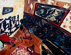 Le salon en rut  oil on canvas , 1948