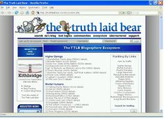 TTLB Ecosystem - A now defunct, but very novel gamification of blogging using a custom social status ecosystem ranging from insignificant microbe to higher beings. Many bloggers were motivated to build market share and rise through the ecosystem by the opportunity to become an Adorable Rodent. We made it to Slithering Reptile. (Pin goes to TTLB Ecosystem page in the Internet Archive's Wayback Machine.)