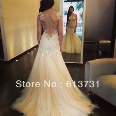 V-back sleeveless strapless tulle mermaid wedding dress,bridal gown from SheDress – Trendy Women's Underwear Dream Wedding Dresses, Bridal Dresses, Wedding Gowns, Prom Dresses, Backless Wedding, Backless Dresses, Dresses 2014, Wedding Bride, Wedding Cake