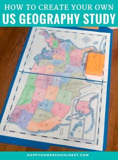 Creating your own US geography study is simple -- all you need are the right resources and a plan to put them all together. Take a look at what we're using to create our own United States geography lesson plans. Geography Lesson Plans, Geography Activities, World Geography, Teaching Geography Elementary, Family Activities, Montessori Elementary, Writing Curriculum, Homeschool Curriculum, Homeschooling Resources