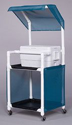 PVC cooler and drink rolling carts... Click on it to see many more ideas...
