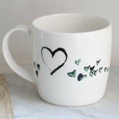 Anna Wright I love you york shaped fine bone china mug Anna Wright, China Mugs, Mixed Media Collage, Bone China, York