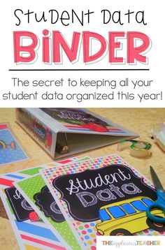 Keep your student data organized this school year with this easy to assemble student data binder. #teacherbinder #databinder