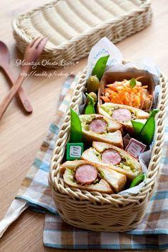 Hotdog Bento for Lunch ホットドッグ弁当