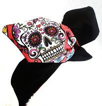 Rockabilly Pin Up Haarband Rot Mexico Skull von magmaAccessoires, €7.90