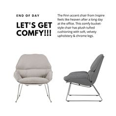 Finn Accent Chair in Light Grey Accent Chairs, Plush, Stress, Things To Come, Comfy, Grey, Ash, Gray, Anxiety