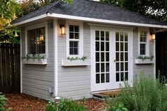 Cottage garden shed Planning To Build A Shed? Now You Can Build ANY Shed In A Weekend Even If You've Zero Woodworking Experience! Start building amazing sheds the easier way with a collection of shed plans! Cottage Garden Sheds, Backyard Cottage, Backyard Sheds, Outdoor Sheds, Backyard House, Outdoor Tools, Backyard Office, Backyard Studio, Garden Studio