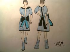 My First fashion design ! ( Sassy)