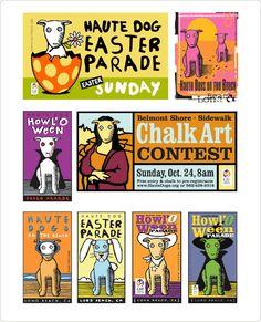 Series of event logos for pet events. Design: Marc Posch Design, Inc. Los Angeles