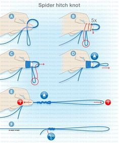 Spider hitch knot #fishing #fishingtip #fishingknot