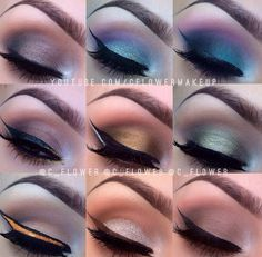 Lots of shades Advanced Beauty, Cheer Makeup, Beauty Makeup, Eye Makeup, The Beauty Department, Makeup Obsession, Photo Makeup, Makeup Designs, Dark Beauty