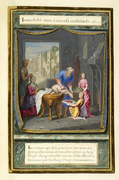 Preparing the Passover Feast | La vérité à la place des ombres | Emblem book | France, Paris | 1679 | The Morgan Library & Museum