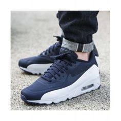 sports shoes 88eca 6b303 Nike Air Max 90 Ultra Moire Blue White Mens Trainers Best Sale
