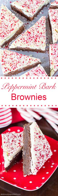 These delicious Peppermint Bark Brownies are easy to make and always a big hit at a party!