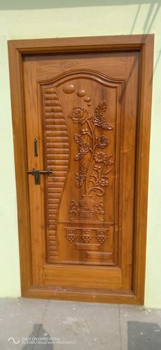 Main Door models My work Pooja Room Door Design, Front Door Design Wood, Wooden Door Design, Wood Doors Interior, Door Glass Design, Room Door Design
