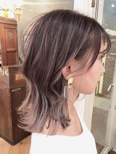 Middle Hair Cut, Japanese Hair Color, Hair Inspo, Hair Inspiration, Ash Brown Hair, Hair Color Streaks, Japanese Hairstyle, Hair Images, Aesthetic Hair