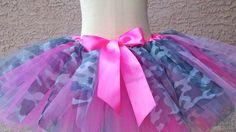 Hot Pink Camouflage Tutu Toddler Size by jujustutus on Etsy, $44.99