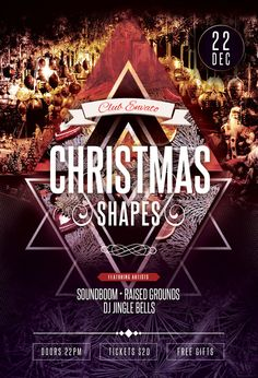 Christmas Shapes Flyer by styleWish on Graphicriver (Download PSD File)