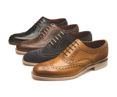 Loake Fearnley - Stylish Brogue shoe made from soft calf leather, featuring fine punched brogue detail and a Goodyear Welted sole, with a natural edge finish. Handcrafted in India.