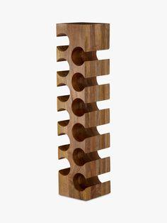 Buy John Lewis & Partners Wine Rack, 12 Bottle, Mango Wood from our Wine Racks range at John Lewis & Partners. Free Delivery on orders over Wine Bottle Wall, Bottle Rack, Bottle Holders, Wine Rack Storage, Wine Rack Cabinet, Mango Wine, Wood Online, Wood Projects That Sell, Wood Wine Racks
