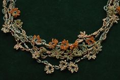 Tatted Necklace Pattern | tatted flower_necklace (japan_no pattern) | Tatting