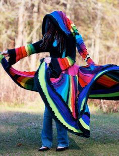 8652329a0c0e SuperDuperUbberAwesome Custom corset Kaleidoscope gypsy dream traveling  upcycled patchwork ragamuffin elf pixie rave recycled sweater coat