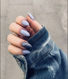 68 stunning nails arts (acrylic, matte, stiletto, almond) for fall and winter 24 Almond Acrylic Nails, Cute Acrylic Nails, Pastel Nails, Acrylic Nails For Fall, Almond Nail Art, Aycrlic Nails, Hair And Nails, Fall Nails, Glitter Nails
