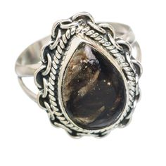 Golden Seraphinite 925 Sterling Silver Ring Size 6 RING767589
