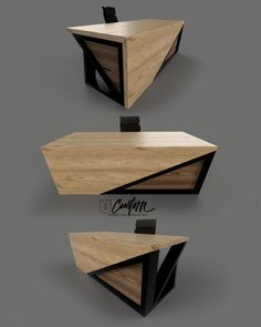 The website is ALMOST done. In the meantime enjoy this beautiful custom desk. Industrial Office Desk, Modern Office Desk, Industrial Furniture, Iron Furniture, Steel Furniture, Office Furniture, Furniture Design, Office Table Design, Office Interior Design