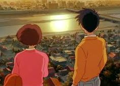 Whisper of the Heart @kiyomipink @aparisr101 I want a guy whos willing to bike me uphill and watch the sunset!
