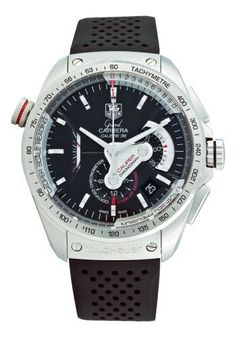 475c29912f1 TAG Heuer Men s CAV5115.FT6019 Grand Carrera Automatic Chronograph Black  Dial Watch by TAG Heuer