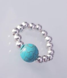 This item is unavailable Chakra, Turquoise Bracelet, Silver Plate, My Etsy Shop, Silver Rings, Healing, Jewellery, Gemstones, Trending Outfits