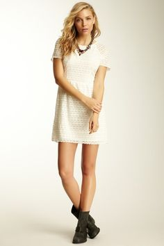 Candy Woven Lace Dress
