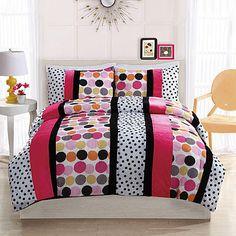 Bed Ink Dani Dot Hot Comforter Set with Sham(s)