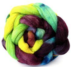 merino silk roving handpainted combed top by WiddershinWoolworks, $22.00