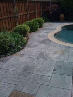 Stamped Concrete, Sidewalk, Patio, Outdoor Decor, Home Decor, Homemade Home Decor, Yard, Porch, Walkways