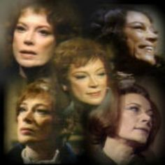 "Grayson Hall and the characters she played on ""Dark Shadows."""