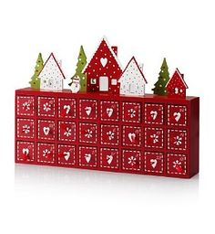 Made with Love Range - Wooden Advent Calendar Christmas Makes, 12 Days Of Christmas, Diy Christmas Gifts, Christmas Projects, Holiday Crafts, Wooden House Advent Calendar, Wooden Advent Calendar, Diy Calendar, Advent For Kids