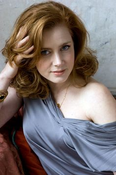 Amy Adams. Silver makes a warm-undertoned lass look pale.
