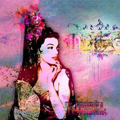 Peintures numérique d'une flamenca