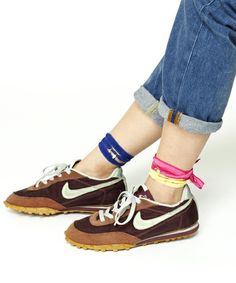 old nike with colors on ankle
